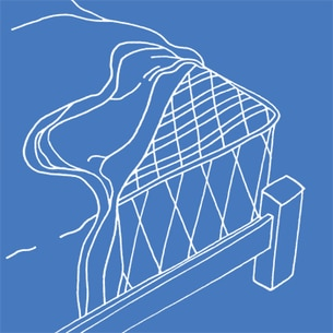 Illustration of a mattress protector on a blue background - Libresse