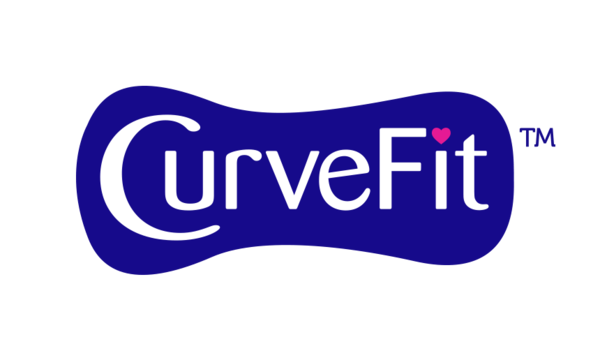 CurveFit icon and text on a grey background - Libresse