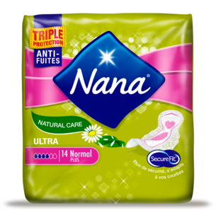 Ultra Normal Natural Care Pads with Wings