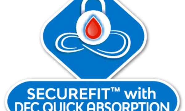 SecureFit with DFC icon on a white background - Libresse